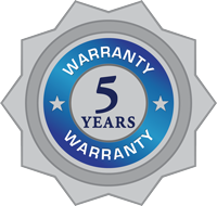 ClearBlue 5 year warranty